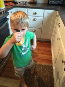 crushing some orange juice