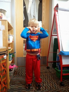 superhero with diabetes at super preschool